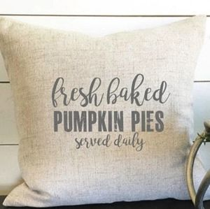 Fresh Baked Pumpkin Pies Throw Pillow Cover